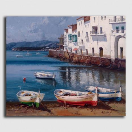Marina al óleo - Cadaqués