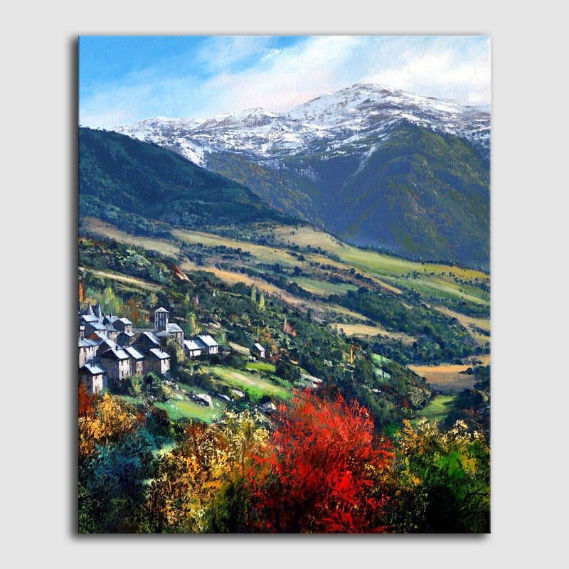 Quadre al olei / Paisatge Vall d' Arán