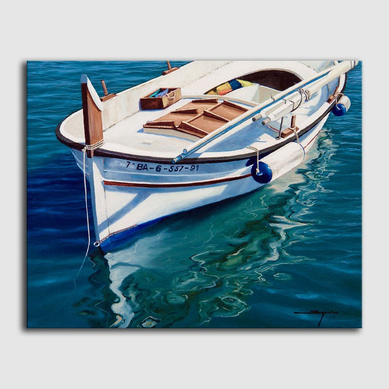 Cuadro óleo-Barca