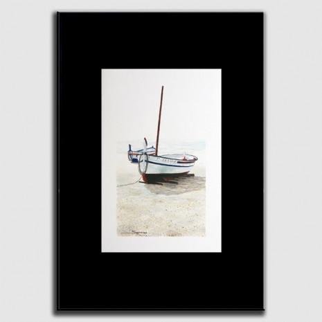 Dibujo barcas