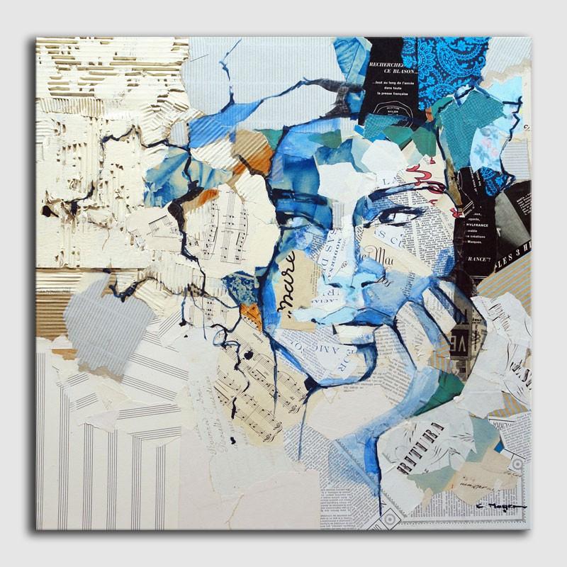 Arte original - mujer en colage