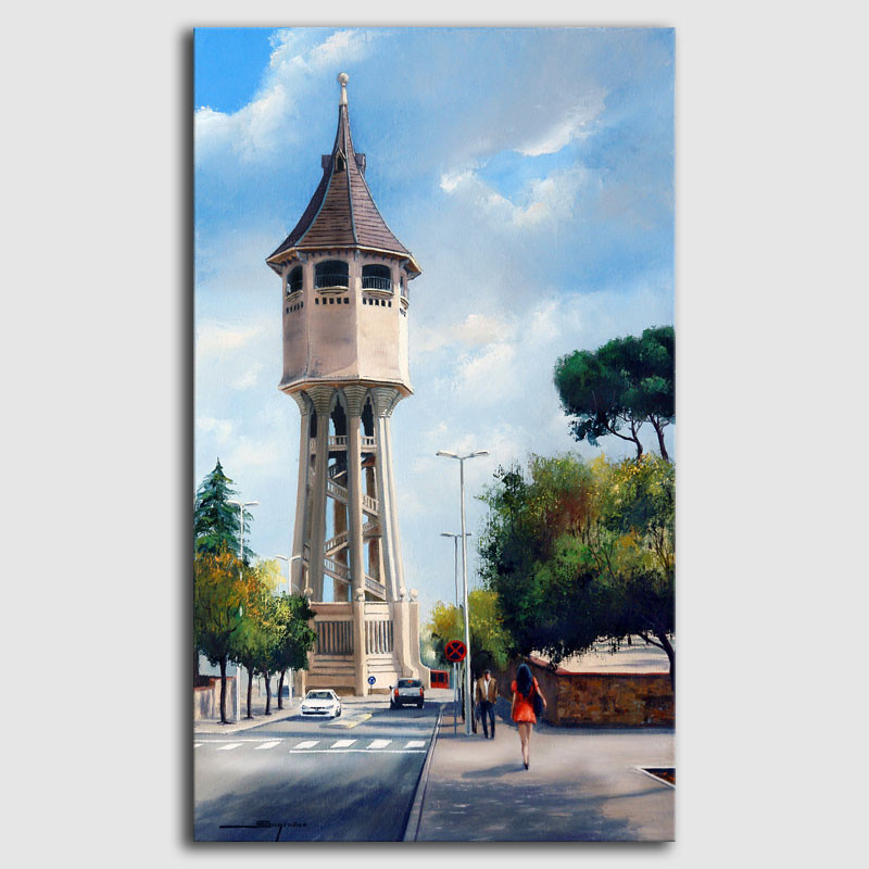 Cuadro Torre del agua Sabadell