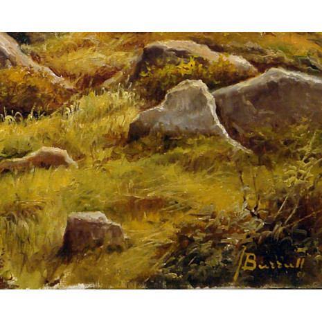 Paisaje al óleo de Joan Burrull