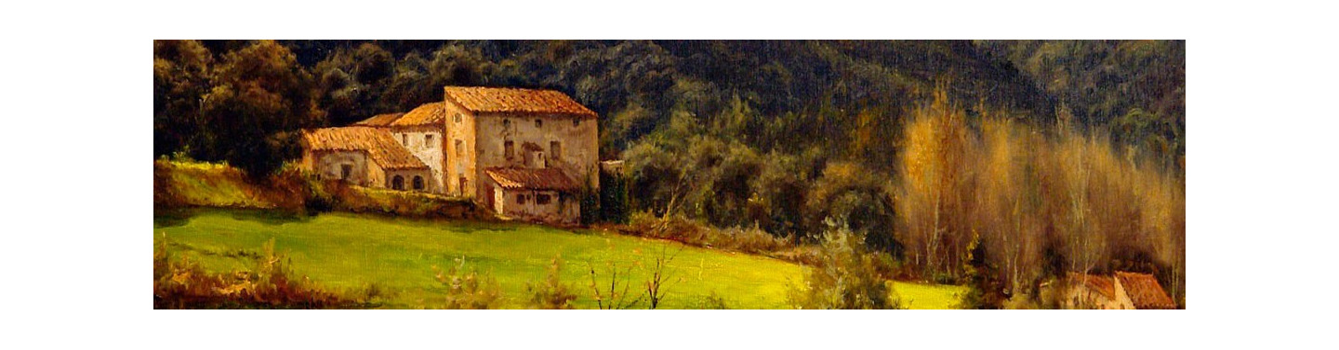Cuadros de paisajes de montaña del artista Joan Burrull