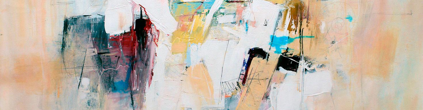 Quadres abstractes de Judith Galiza